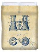 1882 Opera Glass Patent Artwork - Vintage Duvet Cover