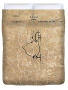 1882 Urinal Patent Duvet Cover