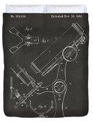 1886 Microscope Patent Artwork - Gray Duvet Cover