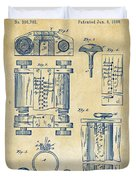 1889 First Computer Patent Vintage Duvet Cover