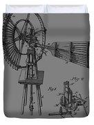 1889 Windmill Patent Duvet Cover