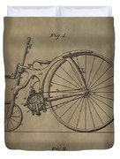 1890 Bicycle Patent Duvet Cover