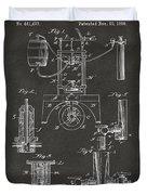 1890 Bottling Machine Patent Artwork Gray Duvet Cover