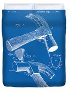 1890 Hammer Patent Artwork - Blueprint Duvet Cover