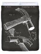1890 Hammer Patent Artwork - Gray Duvet Cover