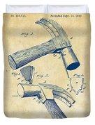 1890 Hammer Patent Artwork - Vintage Duvet Cover
