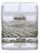 1890 Vintage Map Of Seymour Texas Duvet Cover