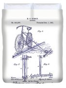 1891 Bicycle Patent Blueprint Duvet Cover