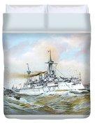 1895 - The Brandenburg Squadron At Sea - Color Duvet Cover