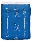 1896 Dental Excavator Patent Blueprint Duvet Cover