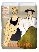 1897 - Harpers Magazine Poster - Color Duvet Cover