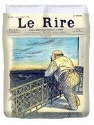 1897 - Le Rire Journal Humoristique Paraissant Le Samedi Magazine Cover - July 31 - Color Duvet Cover