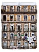 18th Century Building In Lisbon Duvet Cover
