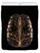 Brain With Blood Supply Duvet Cover