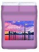 Toronto Skyline Duvet Cover