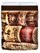 1900 Ledgers Duvet Cover by Nadine Lewis