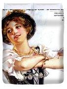 1900s 1913 Smiling German Girl Wearing Duvet Cover