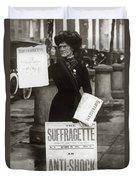 1900s British Suffragette Woman Duvet Cover
