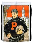 1901 - Princeton University Football Poster - Color Duvet Cover