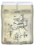 1901 Barber Chair Patent Drawing  Duvet Cover
