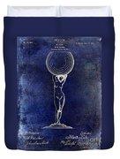 1901 Wine Glass Design Patent Blue Duvet Cover