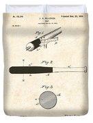 1902 Baseball Bat Patent Duvet Cover