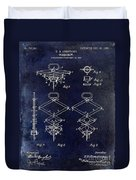 1902 Corkscrew Patent Blue  Duvet Cover