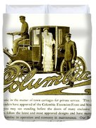 1903 - Columbia Motor Carriage Advertisement Duvet Cover