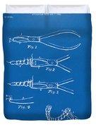 1903 Dental Pliers Patent Blueprint Duvet Cover