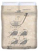 1903 Golf Club Patent Duvet Cover