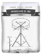 1903 Portable Drum Patent Drawing Duvet Cover