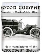 1904 - Daimler Motor Company Mercedes Advertisement - Color Duvet Cover