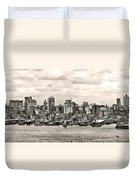 1906 Manhattan Panorama Duvet Cover