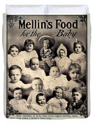 1907 - Mellins Baby Food Advertisement Duvet Cover