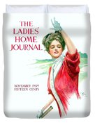 1909 - Ladies Home Journal Magazine Cover - November - Color Duvet Cover