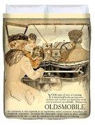 1909 - Oldsmobile Advertisement - Color Duvet Cover