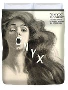1909 - Onyx Hosiery Advertisement Duvet Cover