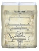 1909 Billiard Table Patent Drawing  Duvet Cover