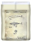 1909 Fishing Lure Patent Drawing Duvet Cover