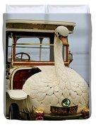 1910 Brooke Swan Car Duvet Cover by Jill Reger