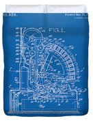 1910 Cash Register Patent Blueprint Duvet Cover