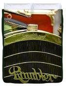 1910 Rambler Model 54 5 Passenger Touring Hood Ornament Duvet Cover by Jill Reger