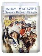 1910s 1912 Cover Sunday Magazine Duvet Cover