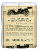 1911 - White Automobile Company Advertisement Duvet Cover