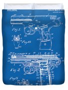 1911 Automatic Firearm Patent Artwork - Blueprint Duvet Cover