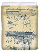 1911 Automatic Firearm Patent Artwork - Vintage Duvet Cover
