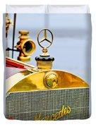 1911 Mercedes 50 Hp Maythorn Tourer Hood Ornament Duvet Cover