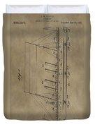 1911 Steamship Patent Duvet Cover