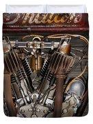 1912 Indian Board Track Racer Engine Duvet Cover