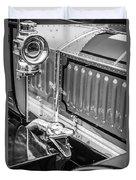 1912 Rolls-royce Silver Ghost Rothchild Et Fils Style Limousine Snake Horn -0711bw Duvet Cover